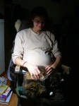 37 weeks baby kitty incubating her egg2
