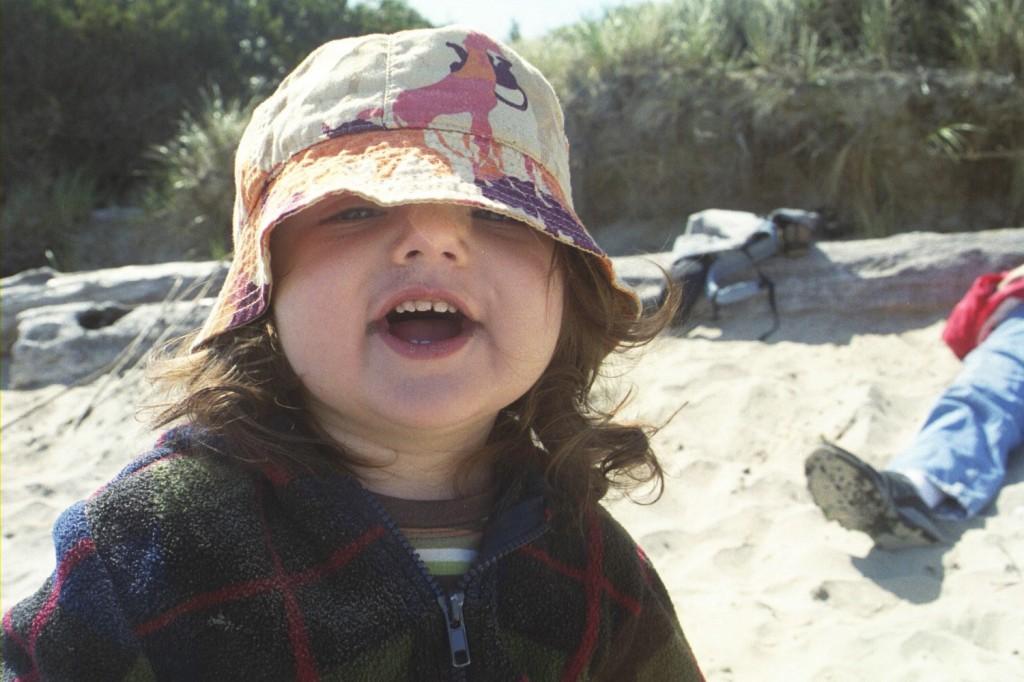 15 months 27 beach smile