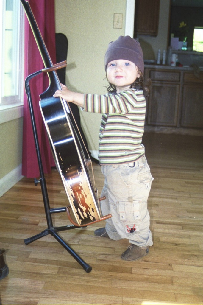 15 months 6 standing by guitar